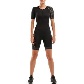 2XU Compression Trisuit met Mouwen Dames, zwart